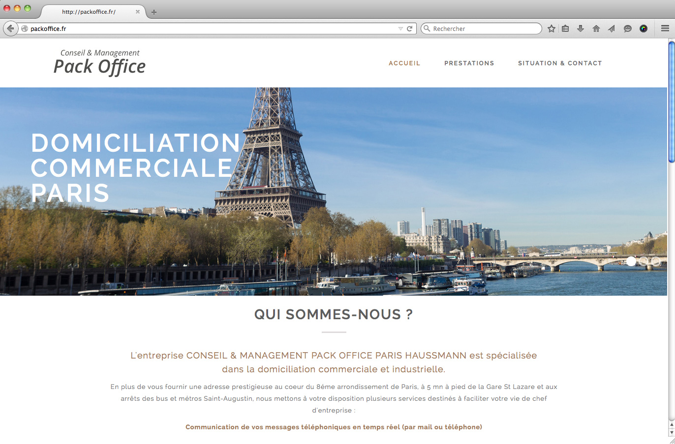 Site internet finance