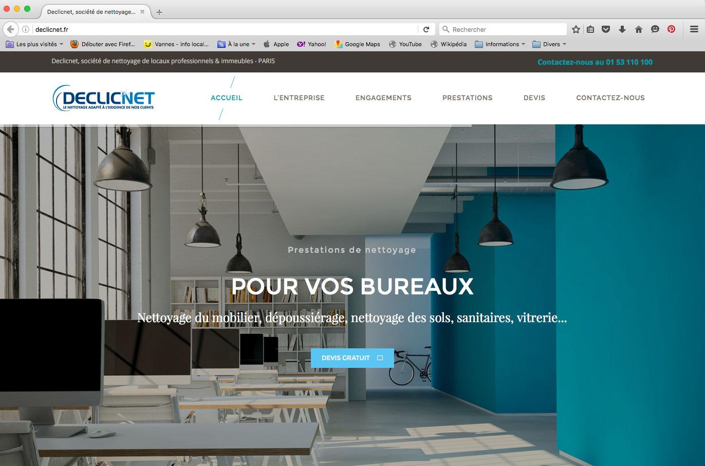 Site internet entreprise de nettoyage