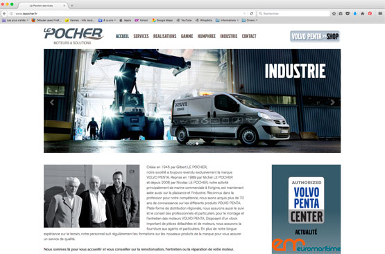 Site internet Volvo Penta center