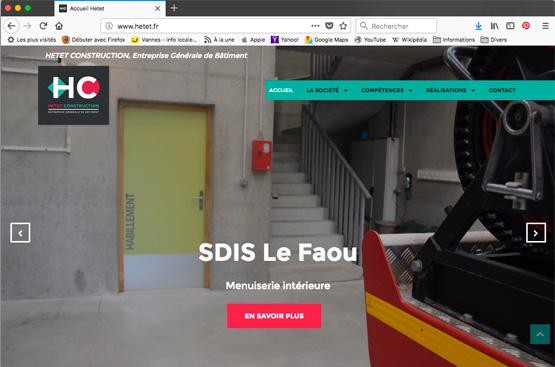 Site internet entreprise de construction