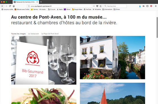 Site internet restaurant Pont-Aven