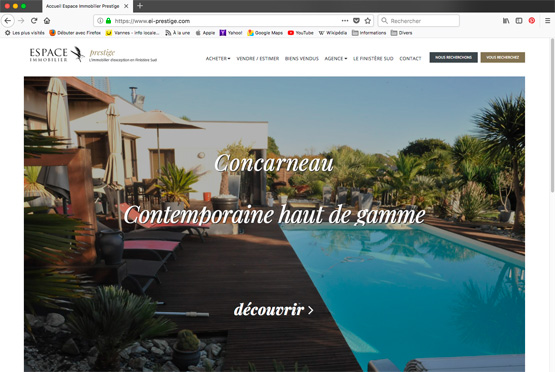 Site internet Agence Immobilière Prestige