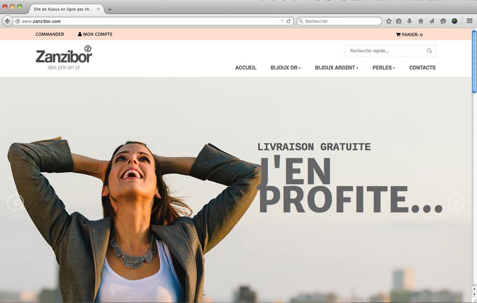Site internet pour vente en ligne de bijou